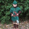 Our homemade Robin Hood and Friar Tuck Halloween costumes for kids