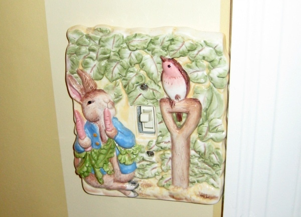 Peter Rabbit switch plate