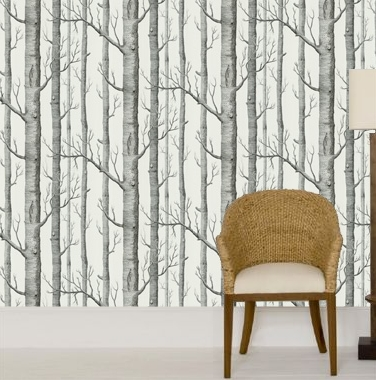I Quickly Determined That Designer Tree Wallpaper Was Well Outside My Price Range And It More Contemporary Than Wanted Anyway