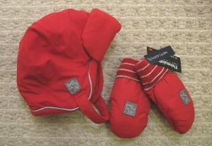 Faded Glory Toddler Hat and Mittens Clearance Deal