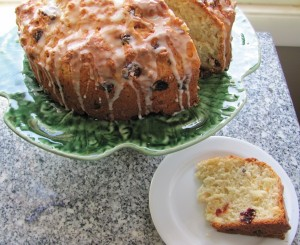 irish soda bread with orange glaze