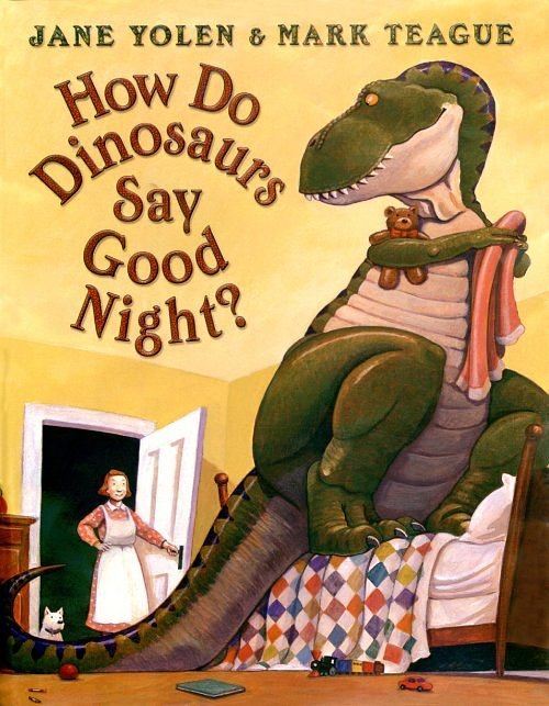 how do dinosaurs say goodnight Kids are kids no matter what their species, as jane yolen proves in this bedtime story to end all bedtime stories children will giggle in recognition at the dinosaurs that thump their tails in displeasure at having to go to sleep and smile at the ones that like to end the night with a hug and kiss.