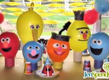 Sesame Street balloon party decorations