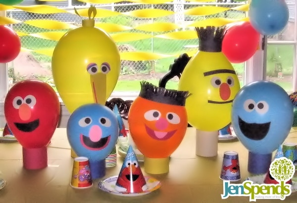 Inexpensive sesame street first birthday theme decorations sesame street balloon party decorations solutioingenieria Image collections