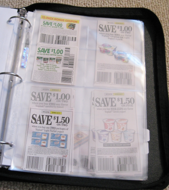 MomSaves Complete Coupon Binder System includes: Premium zipper binder (various sizes, styles and colors) instructions to create your personalized coupon binder system, binder ID page, 55 assorted sizes of vinyl coupon pocket pages, 24 pre-printed category tab dividers, large reuseable shopping bag and 5 valuable downloadable documents to help you save more with coupons.