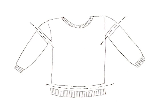 How to make a costume tunic from a sweatshirt