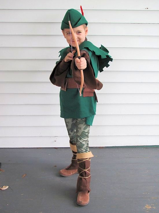 a3db0b3348b DIY Handmade kids Robin Hood and Friar Tuck Halloween costumes
