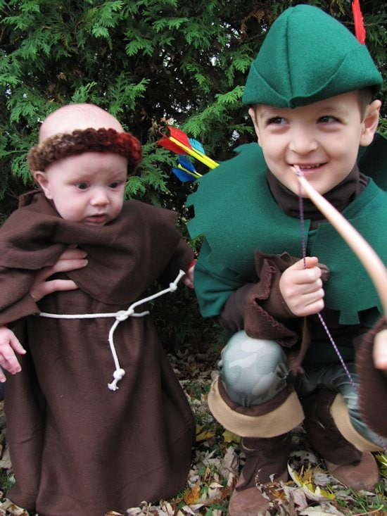 DIY Robin Hood costumes for kids