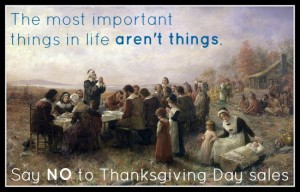 Save Thanksgiving! Say no to sales.
