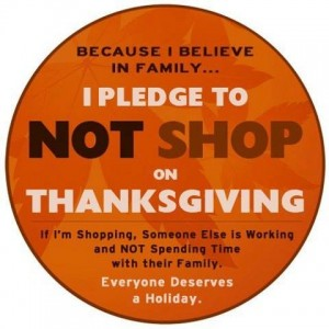 Thanksgiving shopping pledge