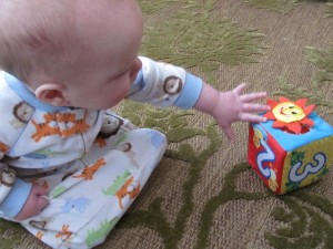 Soft blocks are a safe toy for babies