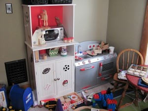 Play kitchen mess