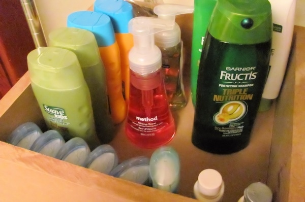 toiletry stockpile