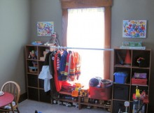 Playroom shelving solution