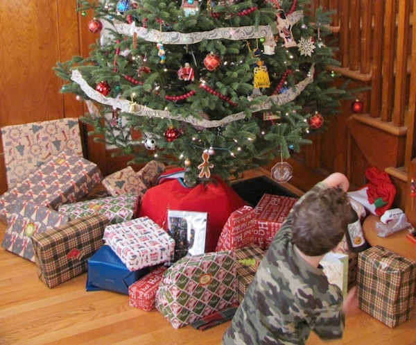 Christmas presents under the tree