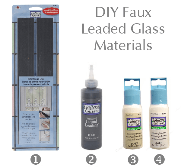 Materials for DIY Leaded Glass