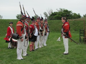 Historical reenactment at Fort Ontario
