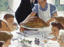 Norman Rockwell Freedom from Want Thanksgiving painting