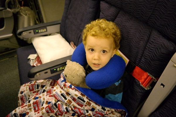 Kids Fly Safe CARES Harness in use