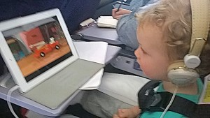 Pack toddler size headphones for the plane