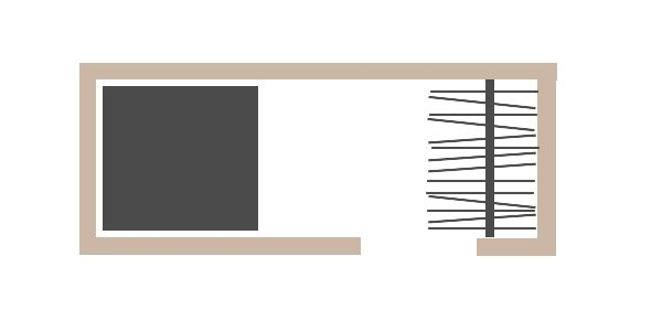 Wide closet with walk-in layout