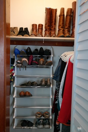 Shoe storage in my small walk-in closet