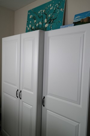 Wardrobe cabinets from Lowes