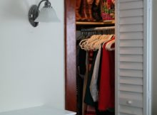 How I made a walk-in closet from a wide closet with a single door