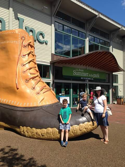 Visiting LL Bean in Maine