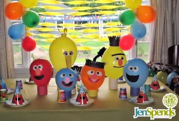 Inexpensive Sesame Street first birthday theme decorations