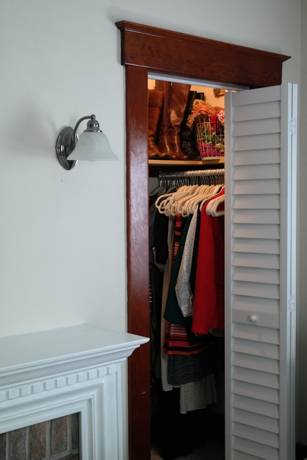 How I Optimize Wide Closets With A Single Door Jen